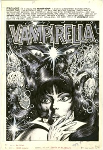 Tom Sutton splash page for  Vampirella #11 (Warren Publishing)
