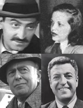 The Kong Radio Players: Daniel Ocko & Elaine Rost (top); Ralph Bell & Nat Polen (bottom)